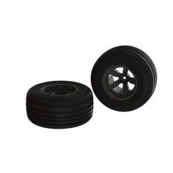 AR550040 Dirt Runner ST Front Tire Set Glued Black