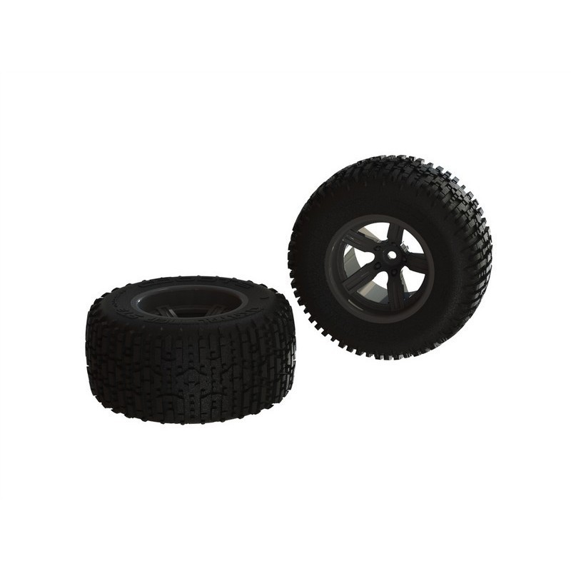 AR550041 Dirtrunner ST Rear Tire Set Glued Black (