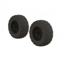 AR550042 Fortress SC Tire Set Glued Black (2)
