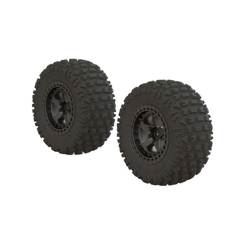 AR550043 Fortress SC Tire Set Glued Blk Chrm (2)