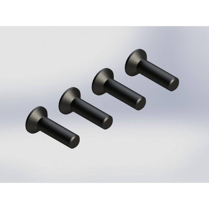 AR722415 Flt Head Hex Machine Screw 4x15mm 4x4 (4)