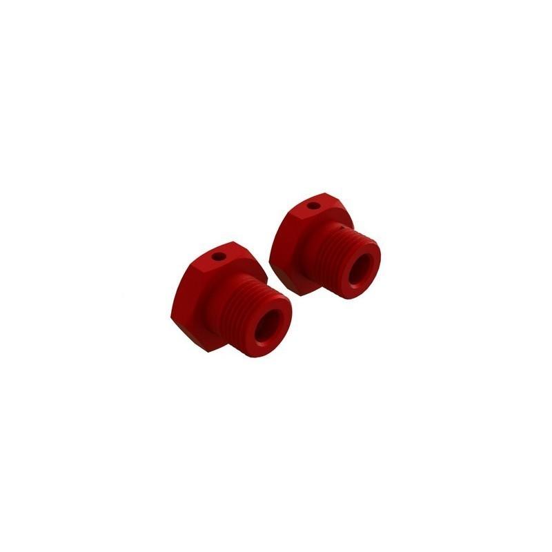 Aluminum Wheel Hex 17mm Red (2)