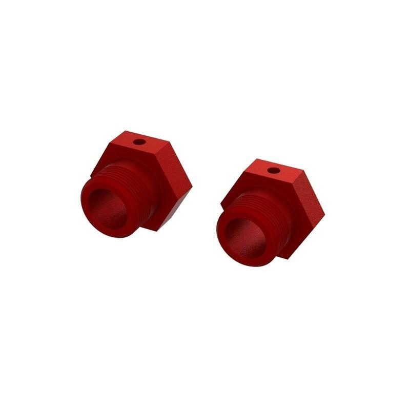 Aluminum Wheel Hex 24mm (Red) (2)