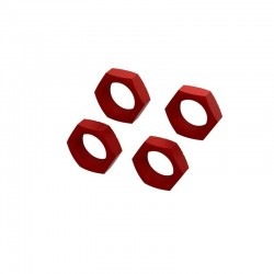 Aluminum Wheel Nut 24mm (Red) (4)