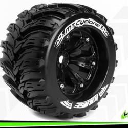 MT-CYCLONE - Monster Truck 1-8 - Monter - Sport - Jantes 3.8 Noir - 1/2-Offset - Hexagone 17mm