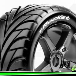 T-ROCKET - Truggy 1-8 - Monter - Soft - Jantes a Batons Chrome-Noir - 0-Offset - Hexagone 17mm