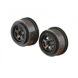 "SC 2.2""/3.0"" Wheel 14mm Hex Black Chrome (2)"