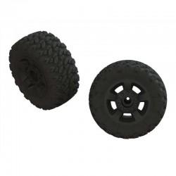 dBoots 'Ragnarok Mt' Tire Set Glued Black (2)
