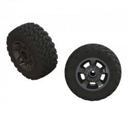 AR550053 Ragnarok Mt' Tire ST Glued(Blk Chrome)(2)