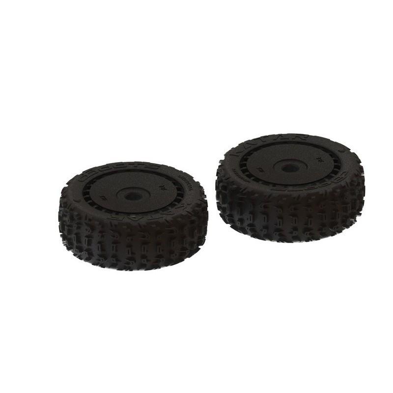 dBoots 'Katar B 6S' Tire Set Black - Pair