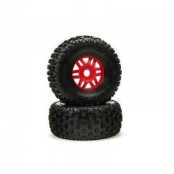 DBOOTS 'Fortress' Tire Set Glued (Red) (2pcs)