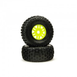 dBoots 'Fortress' Tyre Set Glued Green (Pair)