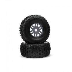 dBoots 'Fortress' Tyre Set Glued Gun Metal (Pair)