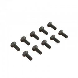 Flat Head Hex Machine Screw M2.5x8mm (10)