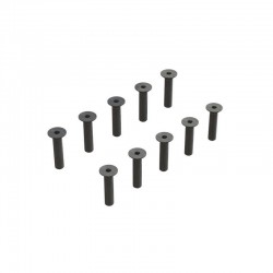 Flat Head Hex Machine Screw M3.5x16mm (10)