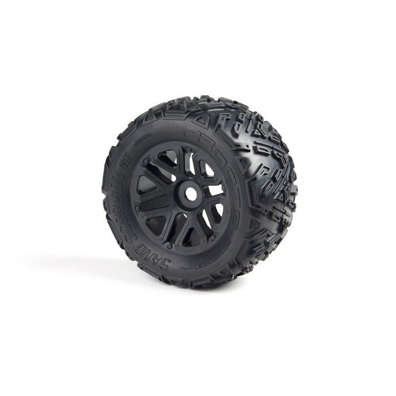 AR550010 Sand Scorpion MT 6S Tire Set Glued Black