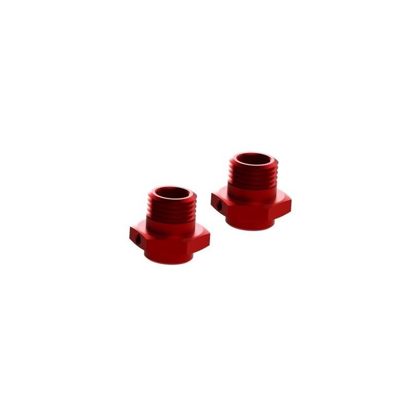 AR310484 Wheel Hex Alumn 17mm/16.5mm Red (2)