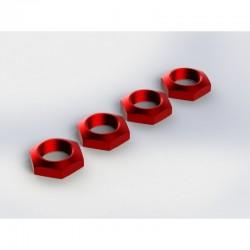 AR330360 Aluminum Wheel Nut 17mm Red Nero (4)