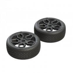 AR550027 Exabyte NB Buggy Tire Set Pre-glued