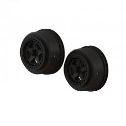 AR510096 SC 2.2/3.0 Wheel 14mm Hex Black (2)