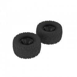 AR550014 Copperhead MT Tire/Wheel Glued Black (2)